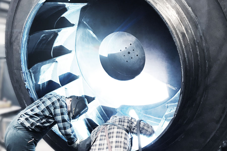 [Translate to Polnisch:] Welding of Impeller